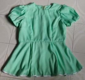 Green Peplum Blouse1